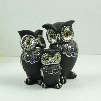 indoor decorative statues/lovely animal figurines/owl statues for