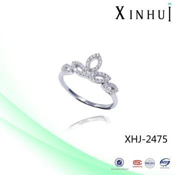 XINHUI Factory 2017 Hot King Crown Silver Ring wholesale