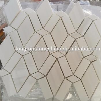 Polygon White Diamond Triangle Rectangular Marble Kitchen Backsplash Mosaic  Tiles - Buy Kitchen Backsplash Mosaic Tiles,Kitchen Backsplash ...