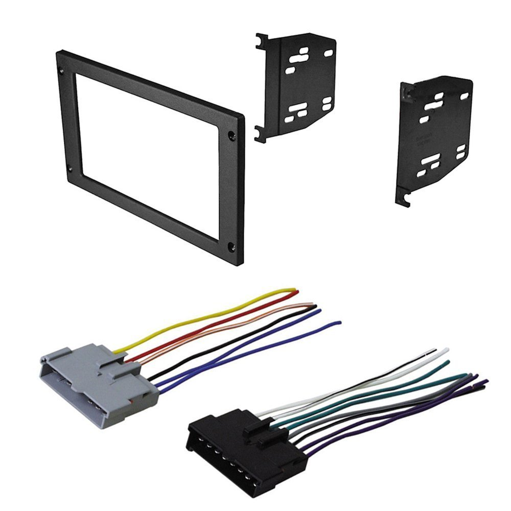 Get Quotations · CAR RADIO STEREO RADIO KIT DASH INSTALLATION MOUNTING TRIM  W/ WIRING HARNESS FOR FORD MUSTANG