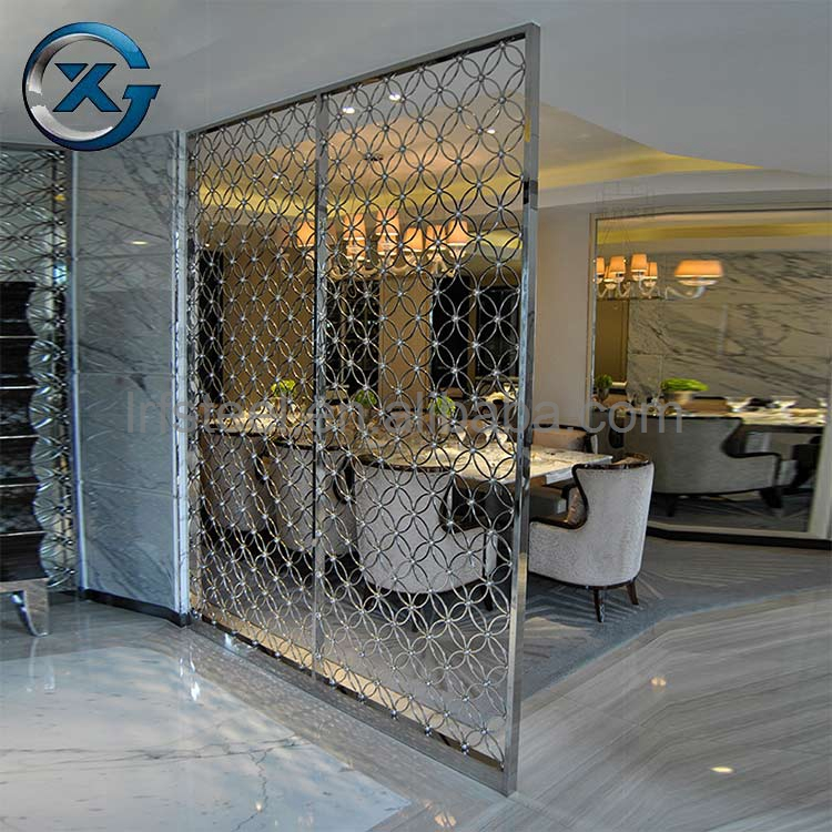 New Arrival stainless steel room divider dubai folding metal screens