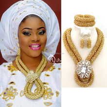 Wholesale Top Quality African Style beads jewelry set by handmade for wedding (JP)