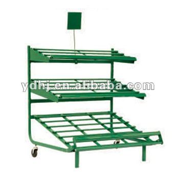 Metal Supermarket 3 Tier Vegetable Basket Stand YD J234
