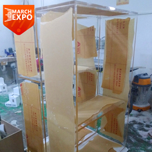 Custom modern clear acrylic furniture large plexiglass clothing display cabinet