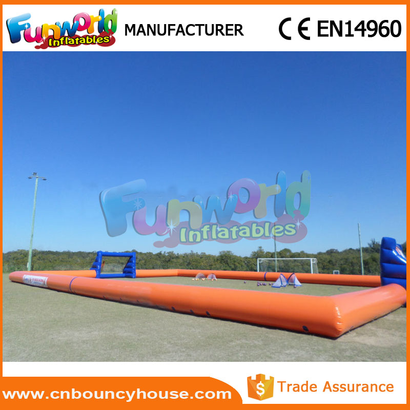 Football pitch soap arena new inflatable soccer field for sale