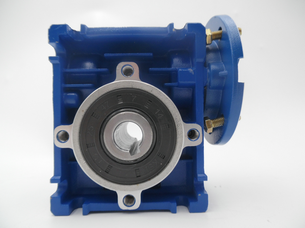 NMRV30 Ratio 1:5 D=11mm output 14mm square flange NEMA23 stepper motor turbo worm reducer turbine reducer