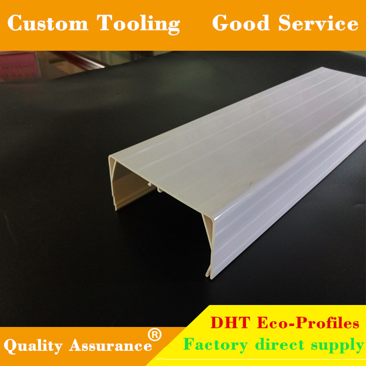 U shape extrusion PVC ABS profile for construction