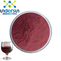 Newest natural red grape wine powder by manufacture white wine extract