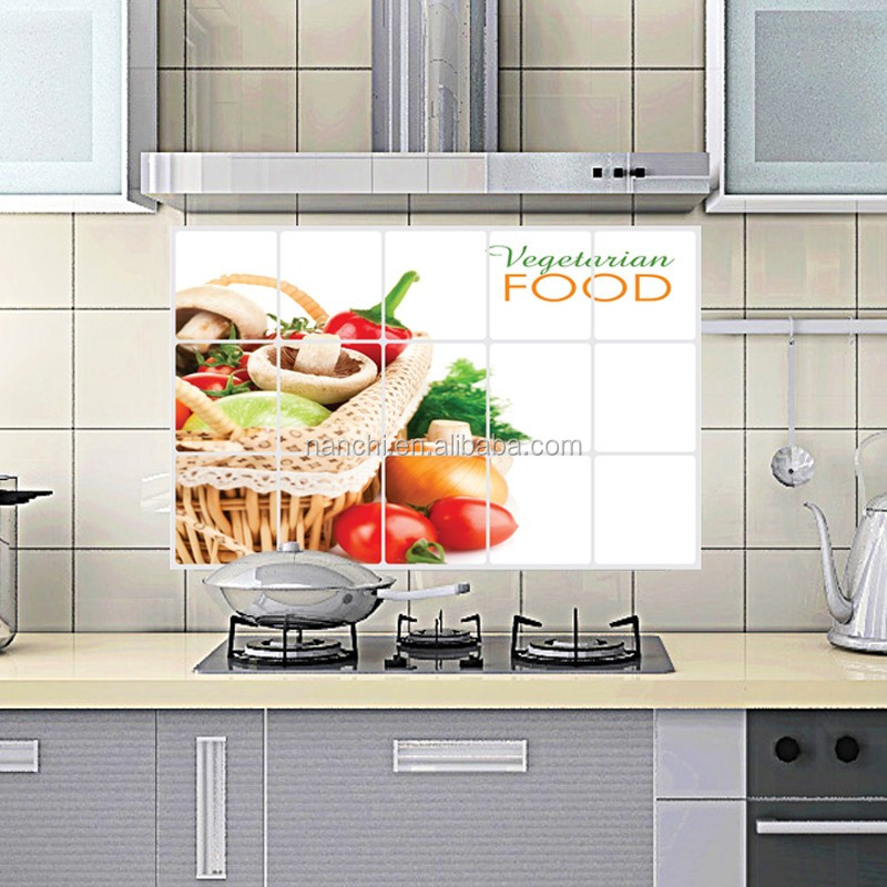DIY fruits and vegetables kitchen vinyl wall stickers home decor bathroom waterproof sticker wall decals home decoration