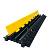Outdoor PVC Heavy Duty Hose Flexible Cable Ramps protectors speed humps Wire Used Rubber Cable Protector 2 Channel For Floor