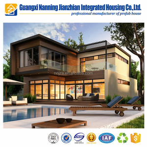 Light Steel and Glass Modular Home Designs Prefabricated House