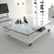 laminated tempered safe glass modern design glass center table