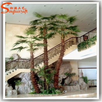 High Quality Artificial Plastic Fake Palm Trees Leaves Indoor ...