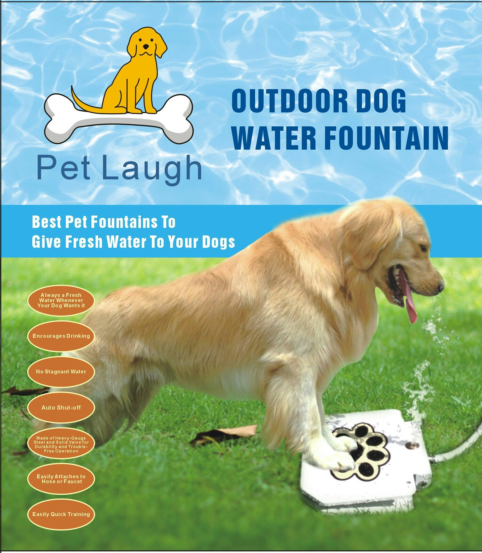 Get Quotations Updated Version Dog Water Fountain Pet Laugh Automatic Waterer Step On Outdoor
