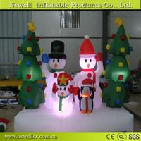 Super quality lighted snowman christmas ornament With OEM logo
