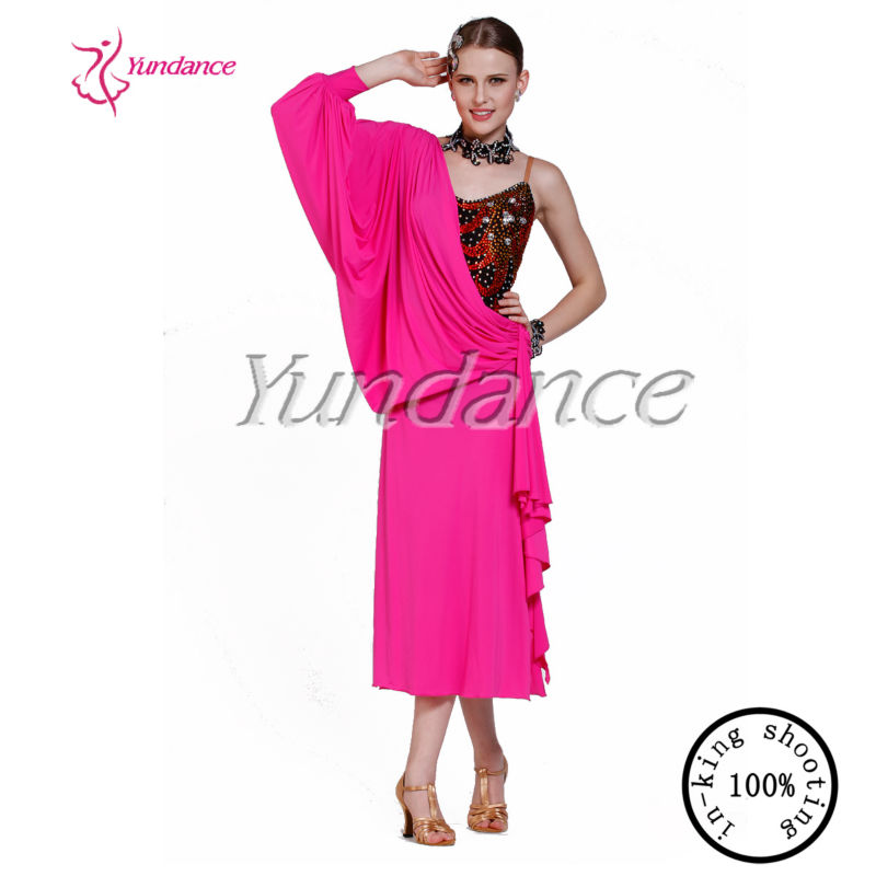 L-13172 2014 Rosa Y Negro Etapa/trajes De Baile Latino/del Vestido ...