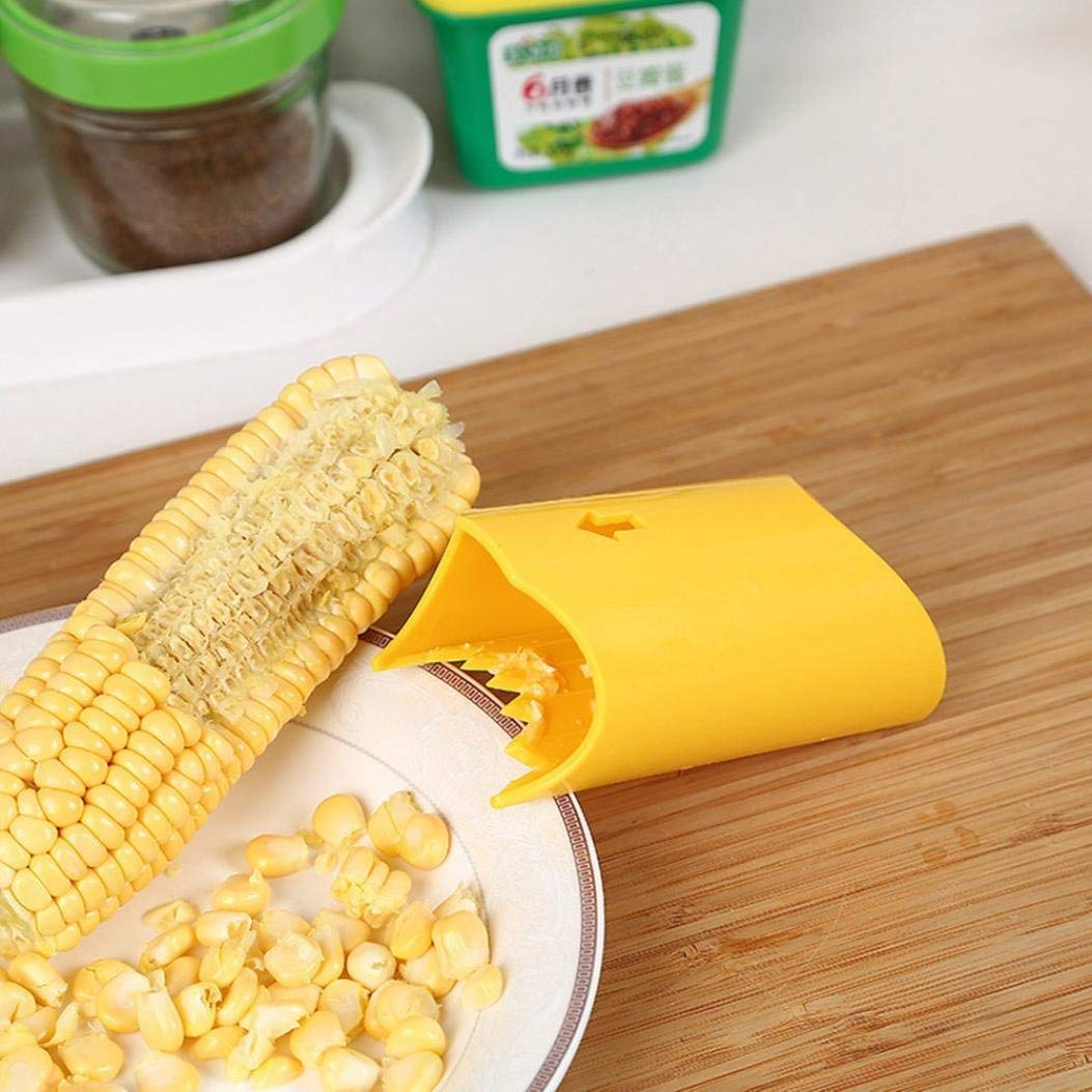 Corn Peeler Stripper Corn Slicer Peeler Thresher Tool Corn on the Cobb Holders Corn Shucker Kitchen Cooking Tools,Easy to Operate and Clean, Reusable and Durable Gessppo