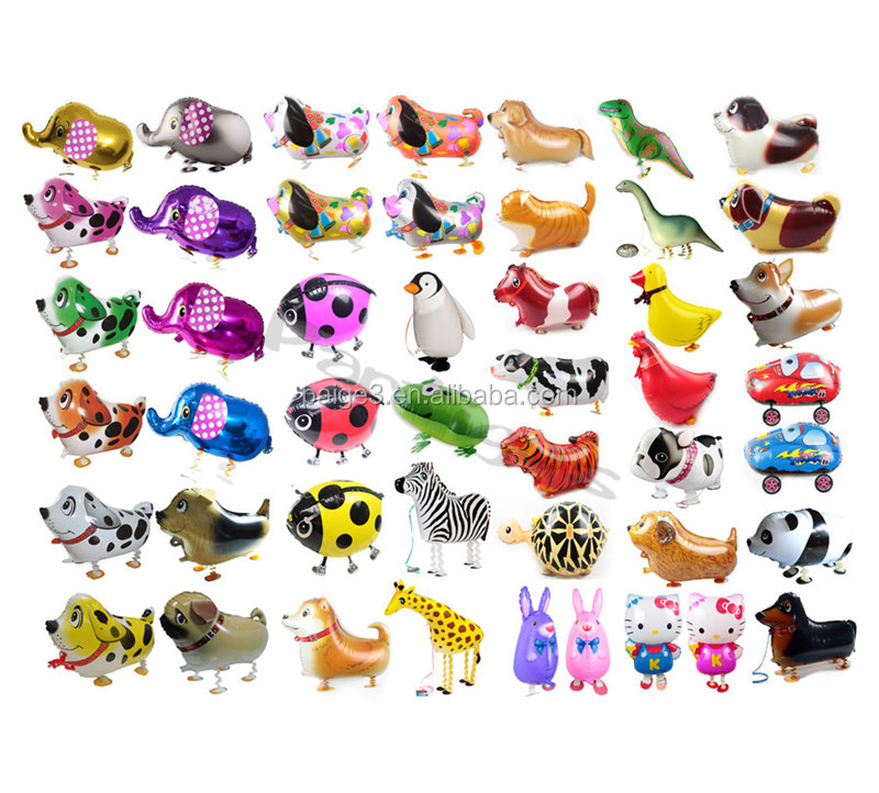 Hot sale animal shape balloons wholesale pet toy walking animal helium foil balloons for children party decorations