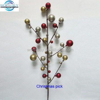 antique satin beaded decorative christmas tree picks and sprays - Decorative Picks For Christmas Trees