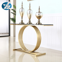Simple design european style stainless steel base in console table