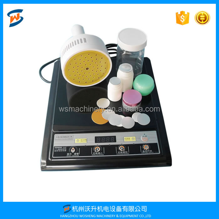 Portable Induction foil cap sealer,manual aluminium foil sealing machine 20-100mm