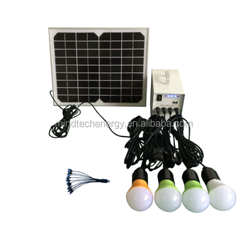 Solar Home Lighting System With 10w Solar Panel And Rechargeable ...