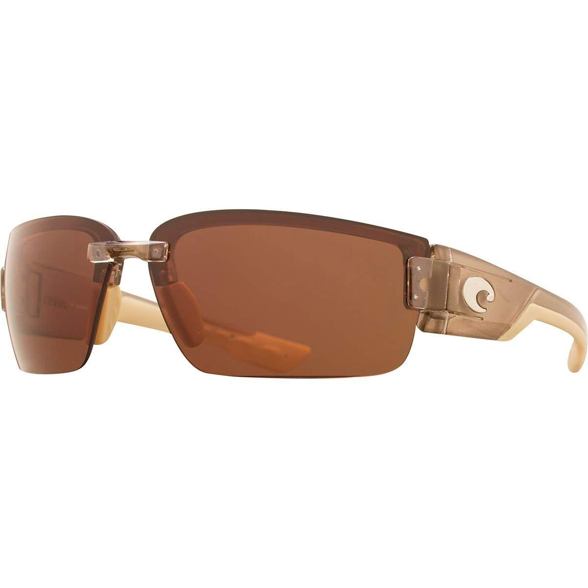 Plastic Frame Crystal Bronze Lens Costa Del Mar Sunglasses Zane Polarized Copper 580P Polycarbonate