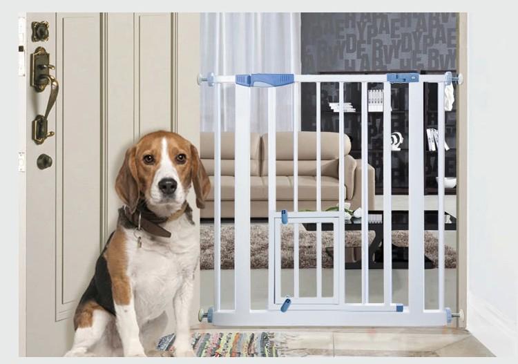 Door barrier portable pet gate metal dog fence buy