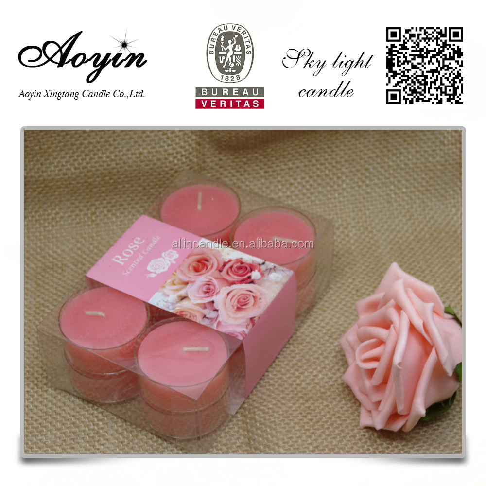 Plastic case high quality cheap price tealight candle export to Turkey
