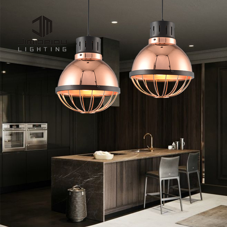 Wholesale factory price cheap price iron led restaurant pendant light A chandelier with ball shape