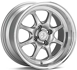 15x7 Enkei J-SPEED (Silver w/ Machined Lip) Wheels/Rims 4x100 (464-570-4938SP) by Enkei