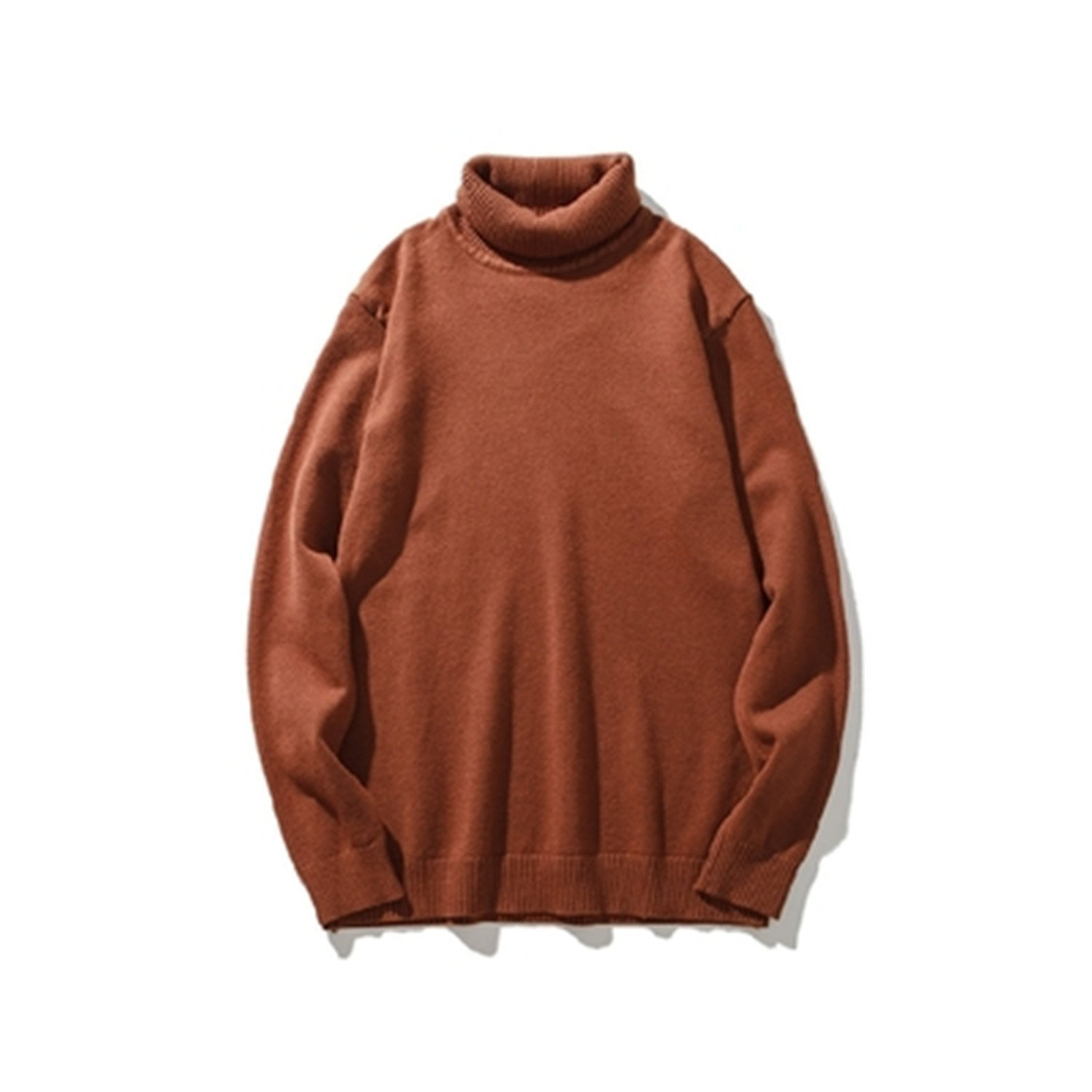 b4932212d9 Get Quotations · B dressy Turtleneck Sweater Men Knit High Elastic Jumper Men s  Sweaters And Pullovers Male TricotTops