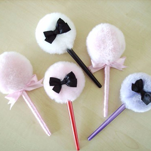 Lollipop Long Handle Body Powder Puff With Stick