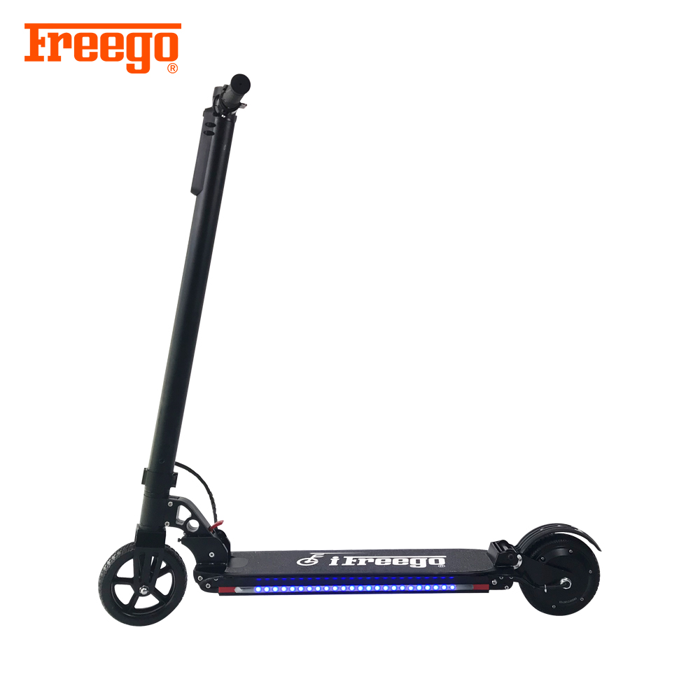 2018 New fashion 2 wheel foldable stand up electric scooter with led light фото