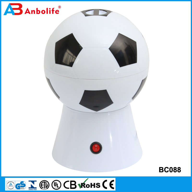 Anbo 2017 New Soccer Theme Popcorn Maker 220v Hot Air Popcorn Maker