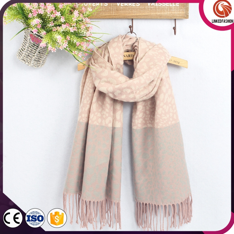 Embroidery patterns SCARF 100% Acrylic knitted scarf with tassel