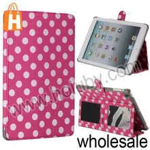 Polka Dots Pattern Flip Stand Leather Case Cover for iPad Mini/Retina iPad Mini with Card Slots (5 Designs Optional)
