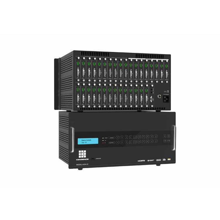 Willekeurige aangepaste ingang out kanaals hdmi matrix switcher 16x16, kaart gebaseerd multi-format matrix switcher
