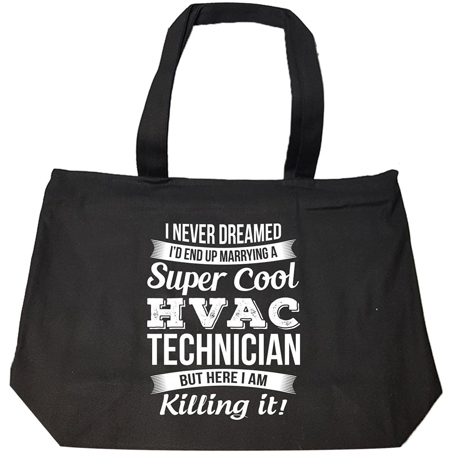 Get Quotations · Hvac Technician's Wife Funny Wedding Anniversary Gift -  Tote Bag With Zip