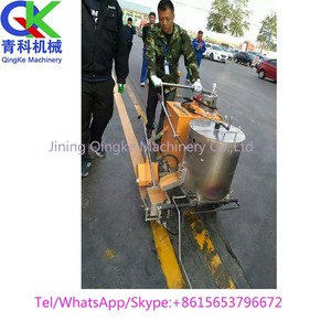 Hot melt Road line marking paint machine with thermoplastic paint boiler combined for sale