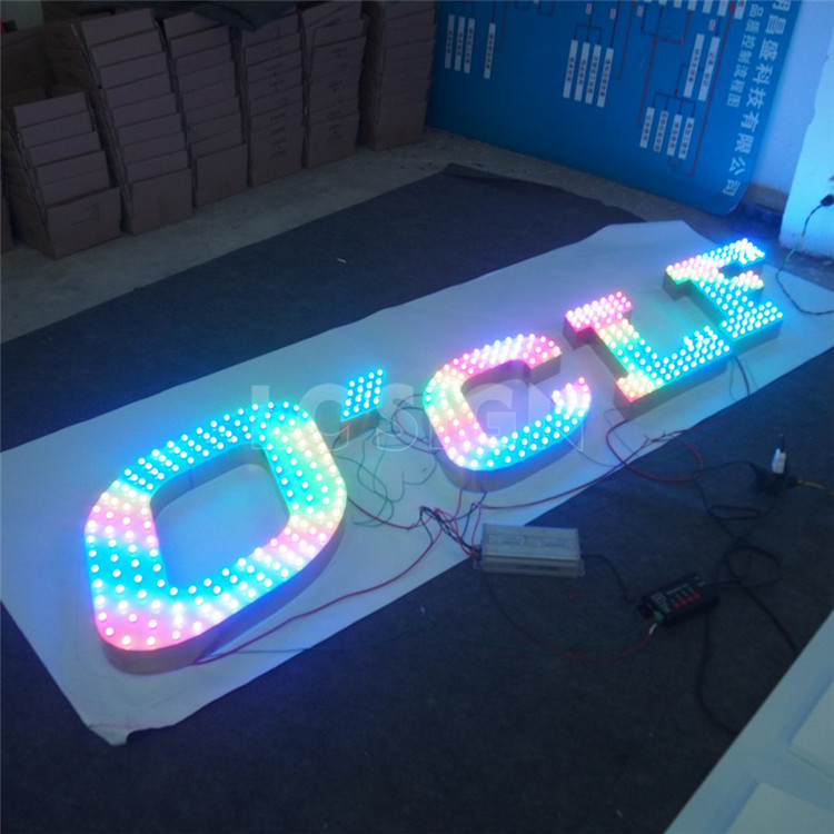 Factory Outlet stainless steel RGB Punch words, through holes letters signs