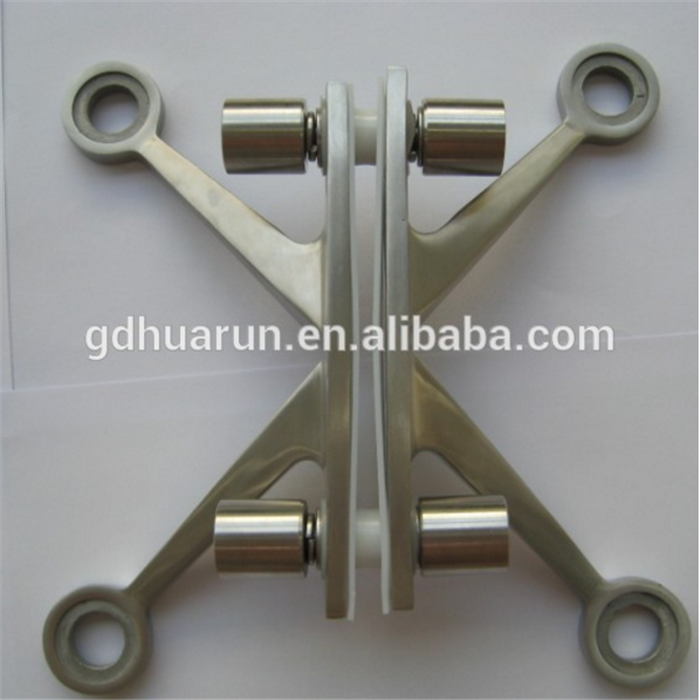 Stainless steel satin finished double K spider fitting with four arms connector