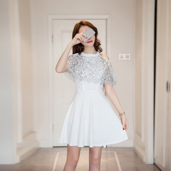 New Style Korean Ladies Simple Fashion Elegant Dress Buy Ladies