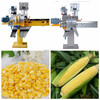Electric fresh sweet corn husker machinery with 500-800kg/hour capacity