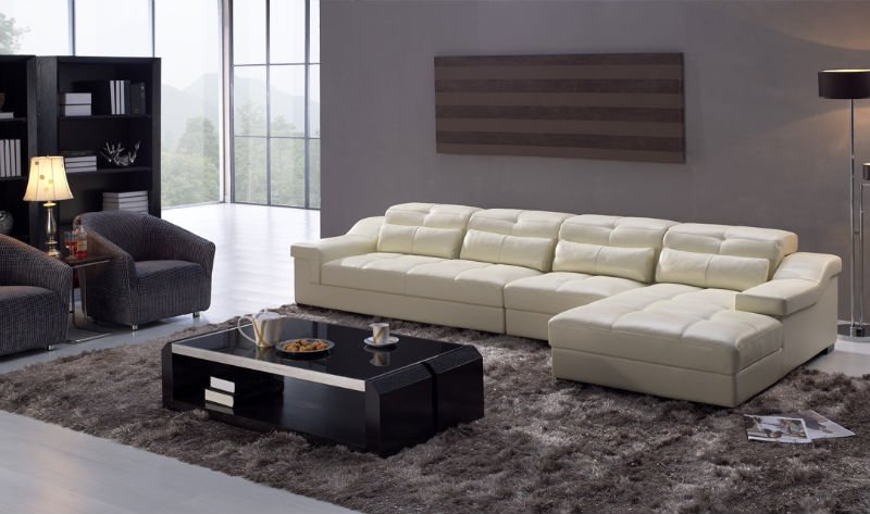 Wondrous Cream 4 Seater Leather Sofa In Therapy For Chronic Low Back Gmtry Best Dining Table And Chair Ideas Images Gmtryco