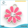 Cute custom silver alloy flower charm,crystal pendant charm jewelry