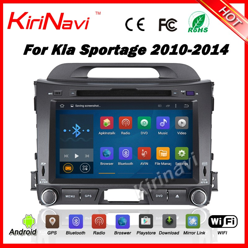 "Kirinavi WC-KS8044 android 5.1 8"" car gps navigation system for kia sportage 2010 2011 2012 2013 2014 car stereo with bluetooth"