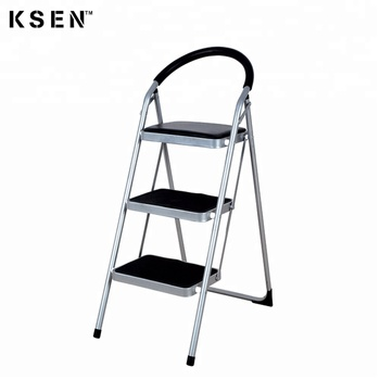 Phenomenal 3 Step Steel Round Tube Step Ladder With Non Slip Tread Safety Kitchen Stool 7013D Buy 3 Step Ladder Steel Round Tube Step Ladder Folding Step Stool Machost Co Dining Chair Design Ideas Machostcouk