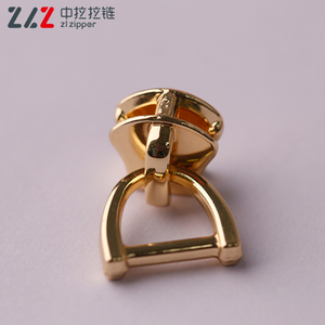 3# gold color Non lock slider with D ring for zipper