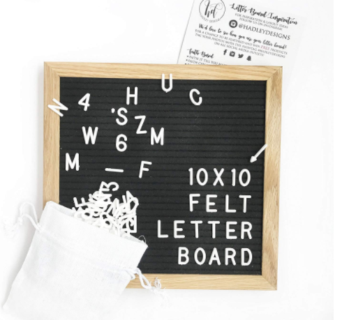 Verwisselbare Vilt Brief Bord Met Witte Letters Display Message Boards